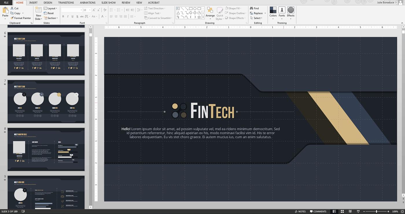 FINTECH PowerPoint Design on Behance