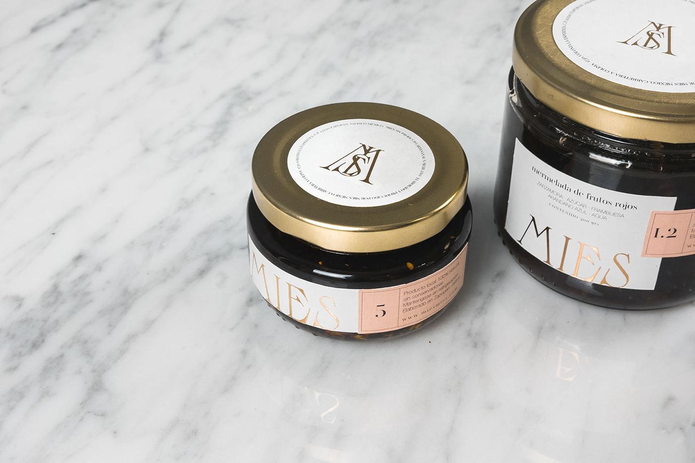 foodbrand Food  honey Packaging preserves minimal minimaldesign monogram monogramdesign branding