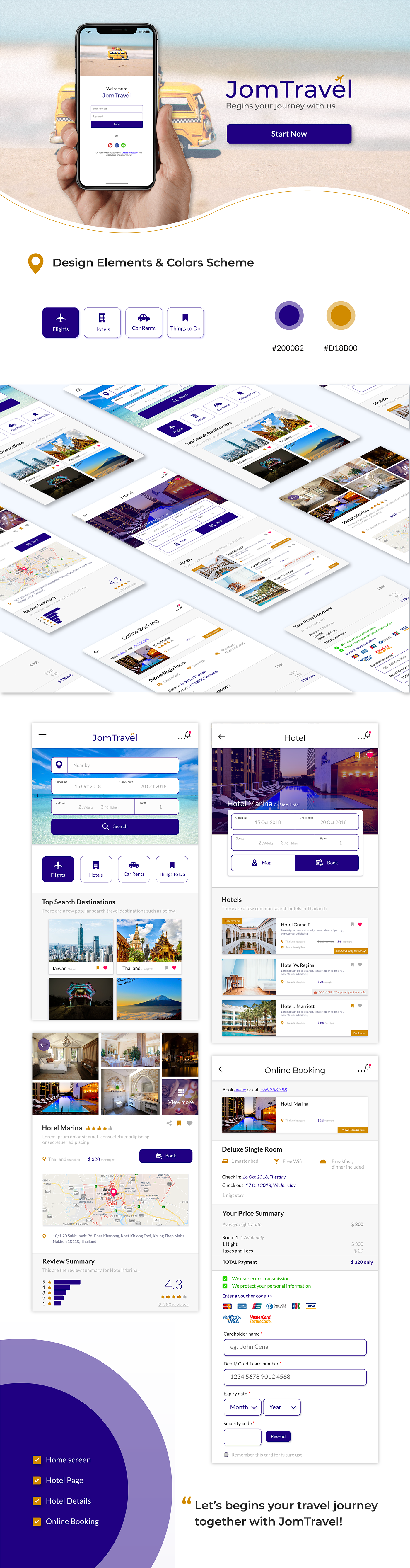 Travel Booking hotel UI/UX jomtravel Mobile App UI/UX design uxarmy