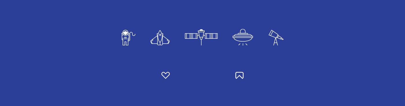 branding  brand Web identity Icon Space  universe graphic design  pattern UI