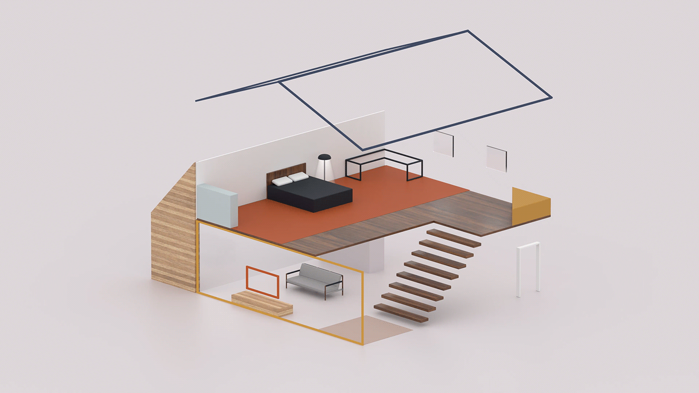 3D arnold c4d furniture gunner herman Interior miller Office Render