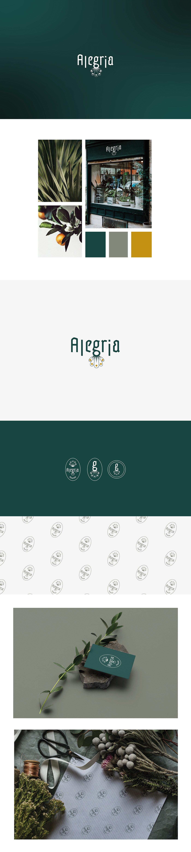 adn flower flowershop green identity logo vector
