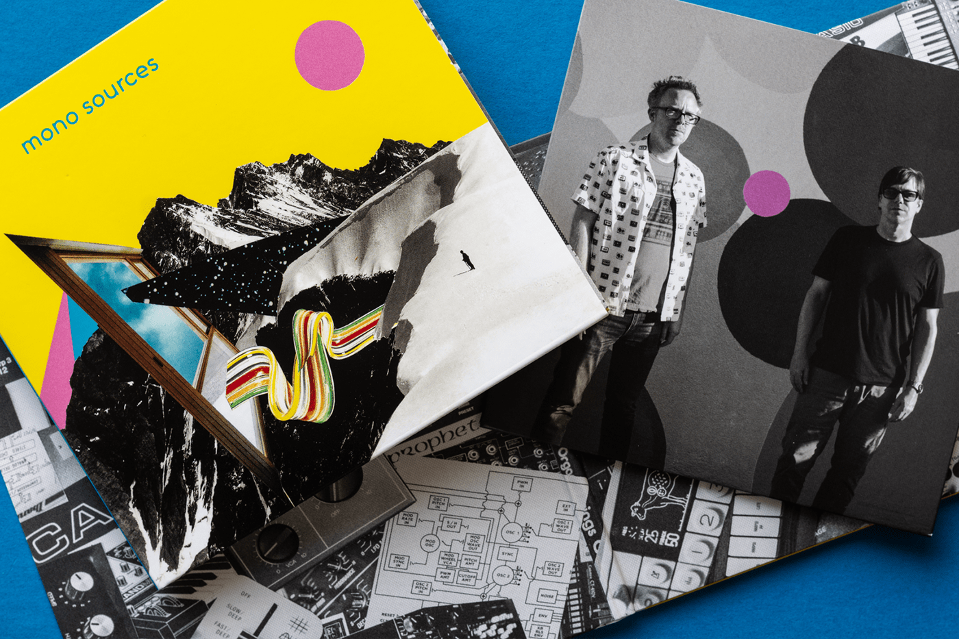 graphic design  music Packaging collage