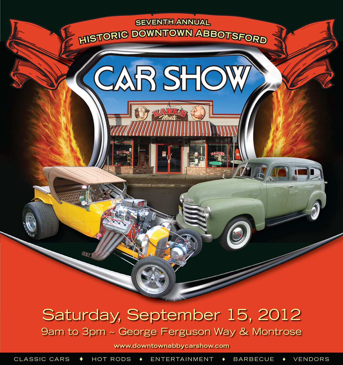 Downtown Abbotsford Car Show Posters On Behance - Car show downtown