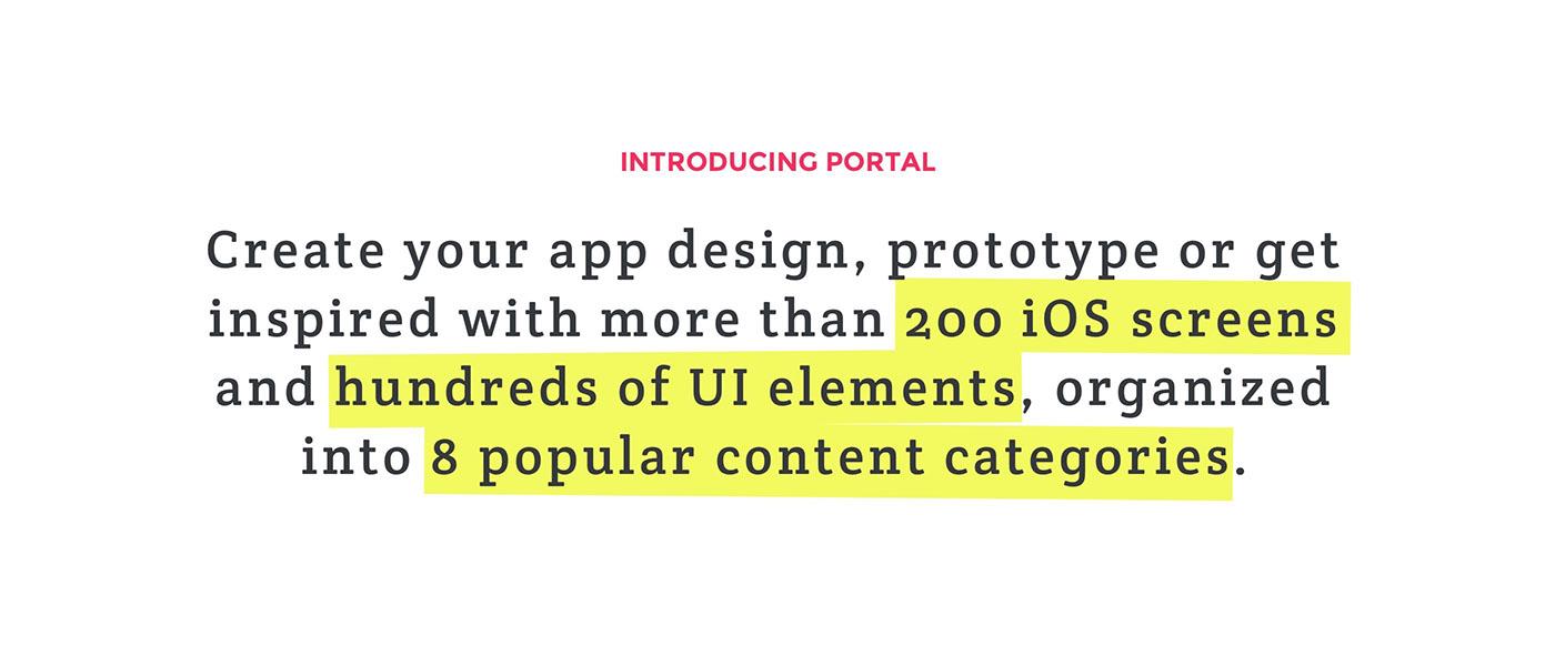 UI ux uikit sketch template social mobile Blog e-commerce shop app application apple ios free