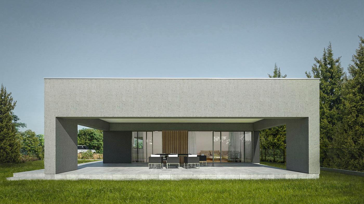 house wood simple Minimalism modernhouse grey long