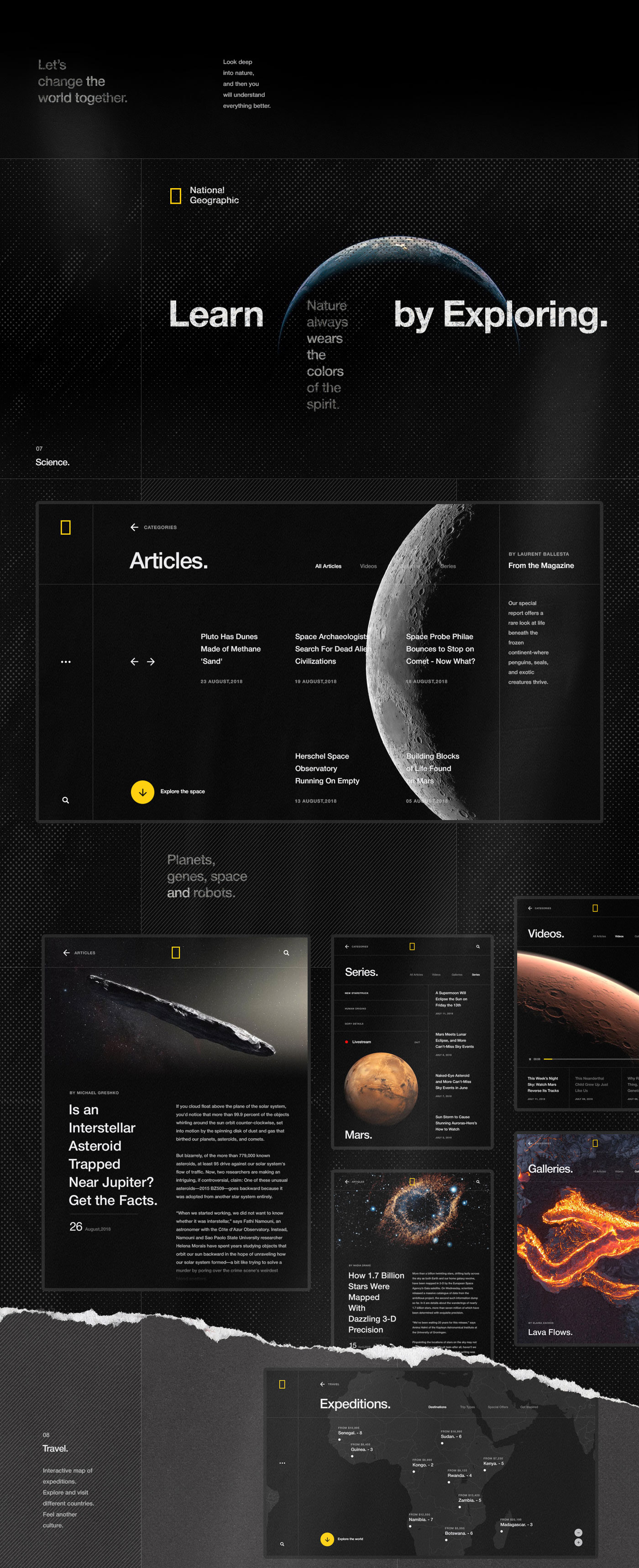 Web Design & UI/UX: National Geographic World Changing Intuitive Site