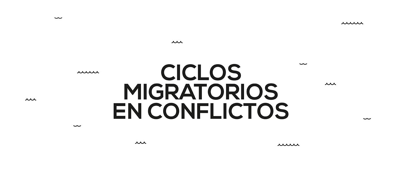 Exhibition  brand design infographic madrid Refugees science