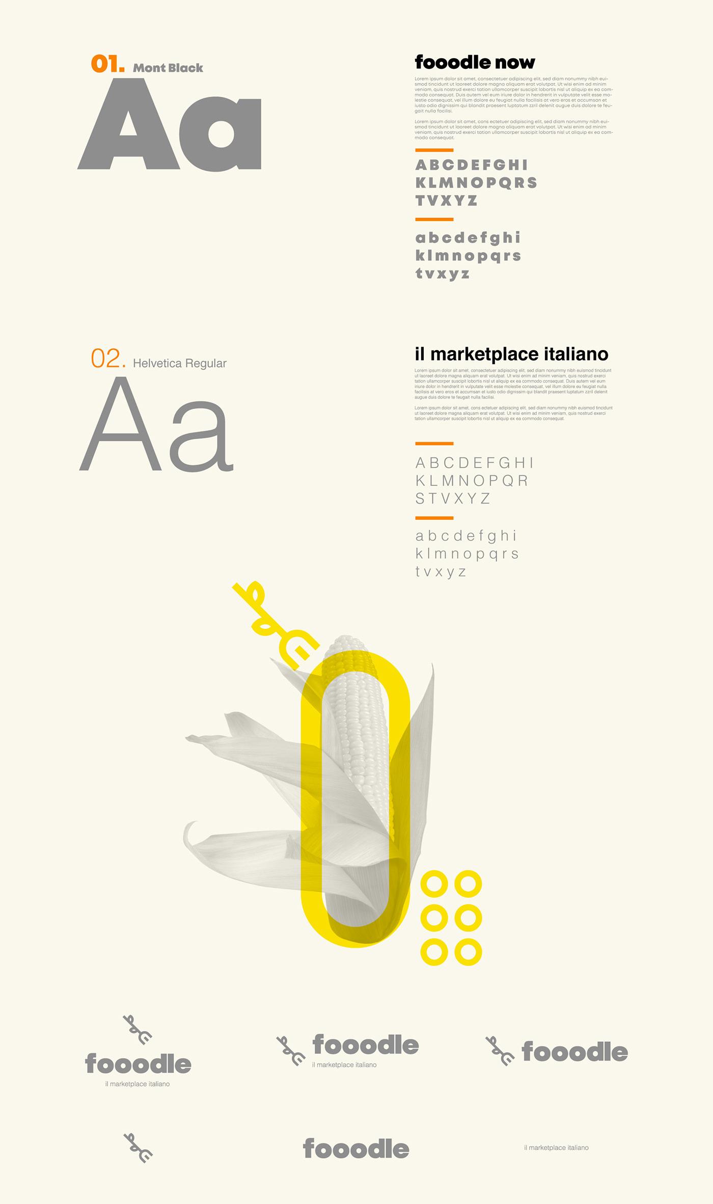 service font for fooodle brand