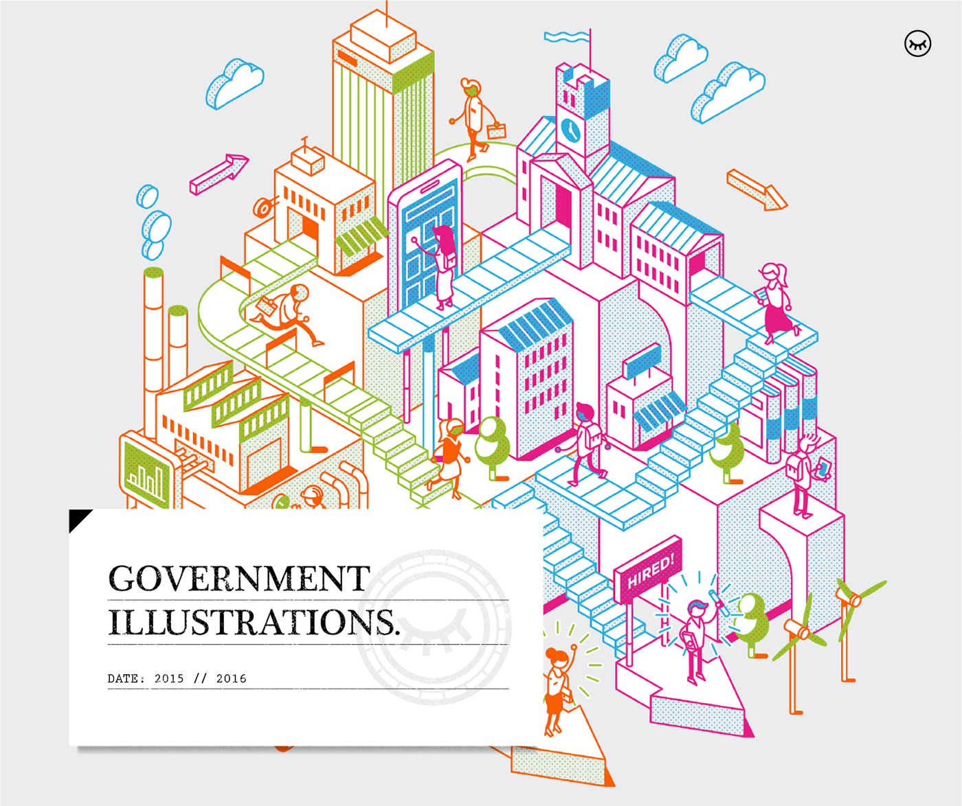 Adobe Portfolio Government vector Transport Cities Low Poly linear Isometric corporate
