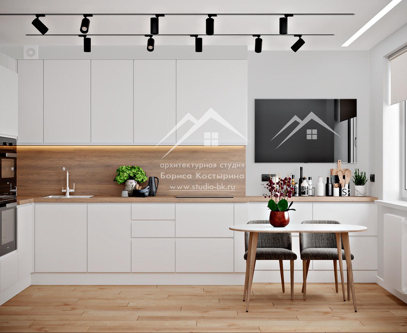 деревянная столешница дизайн интерьера кухни интерьер кухни кухня в современном стиле Проект кухни
