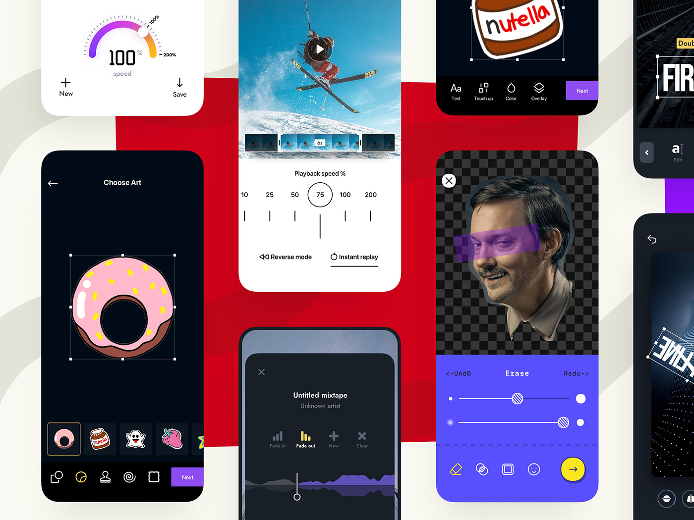 A Series of Apps for Photo and Video Editing
