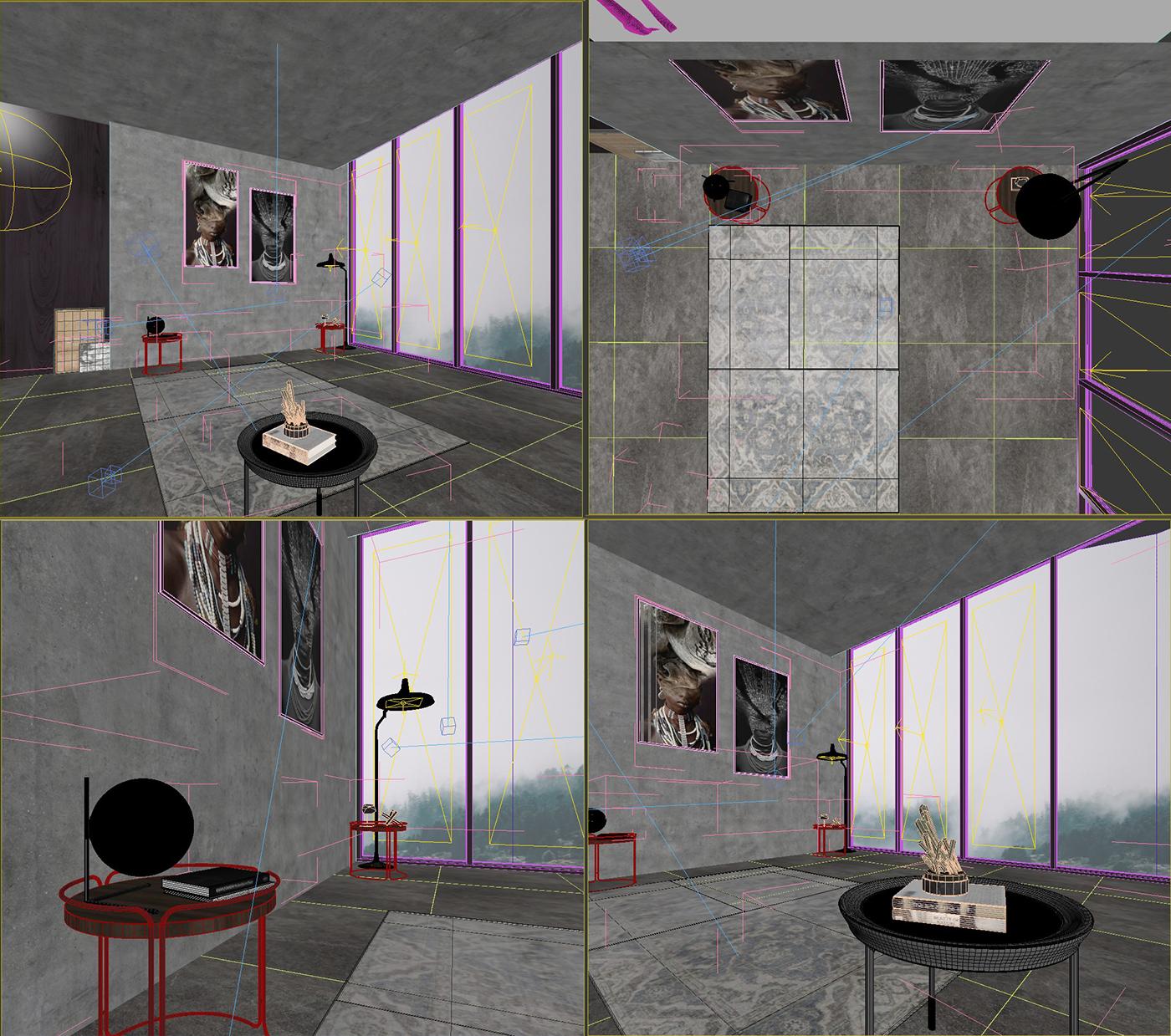 Free 3d Interior Scene Bedroom   Download