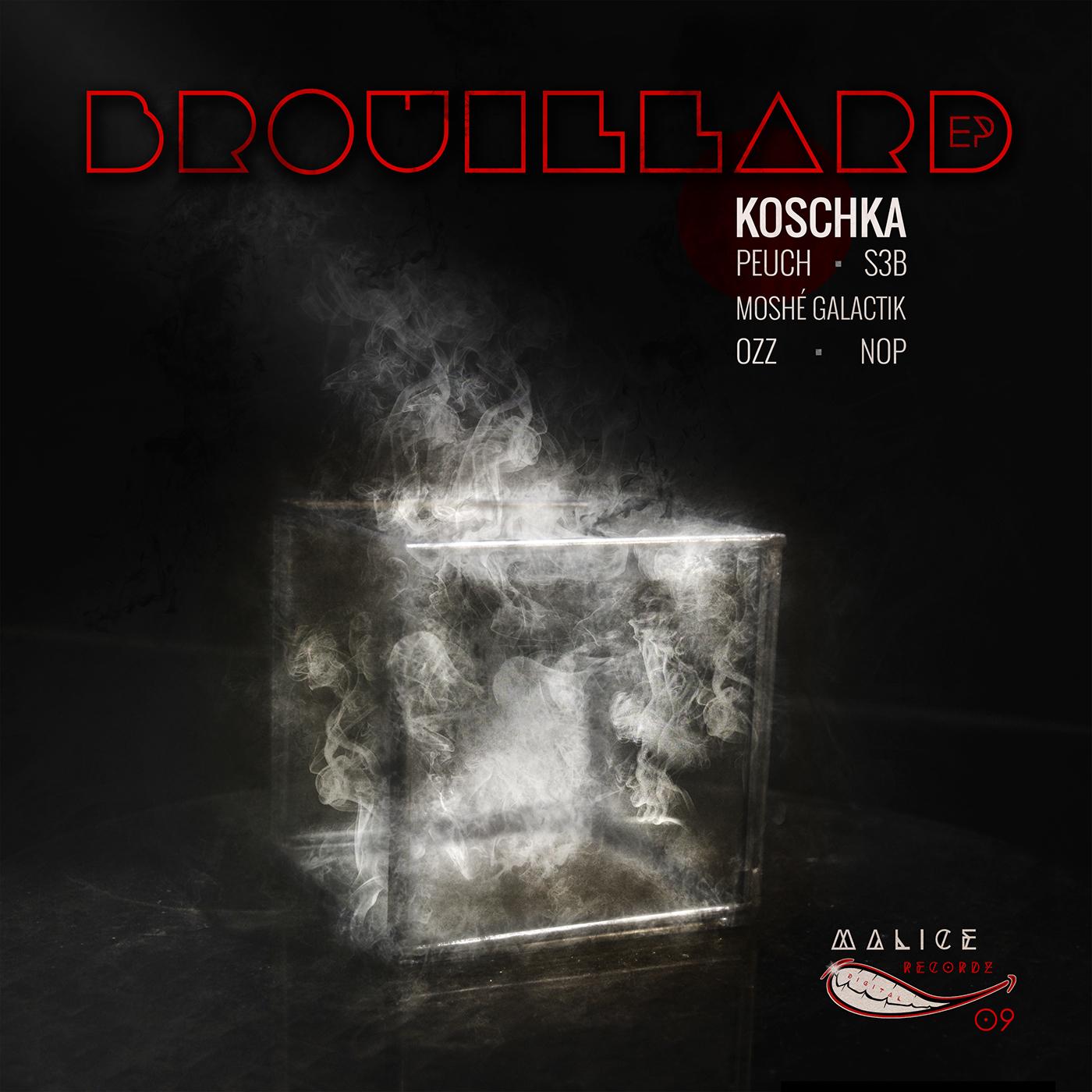 brouillard,techno,Koschka,ep,Musique,Records,weblody,photo,fumée,boite