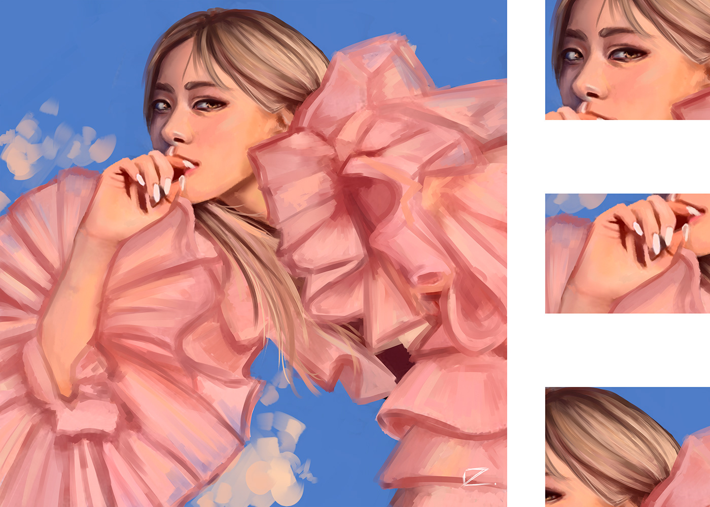 conceptart digitalart face ILLUSTRATION  painting   people photoshop portrait sketch vector