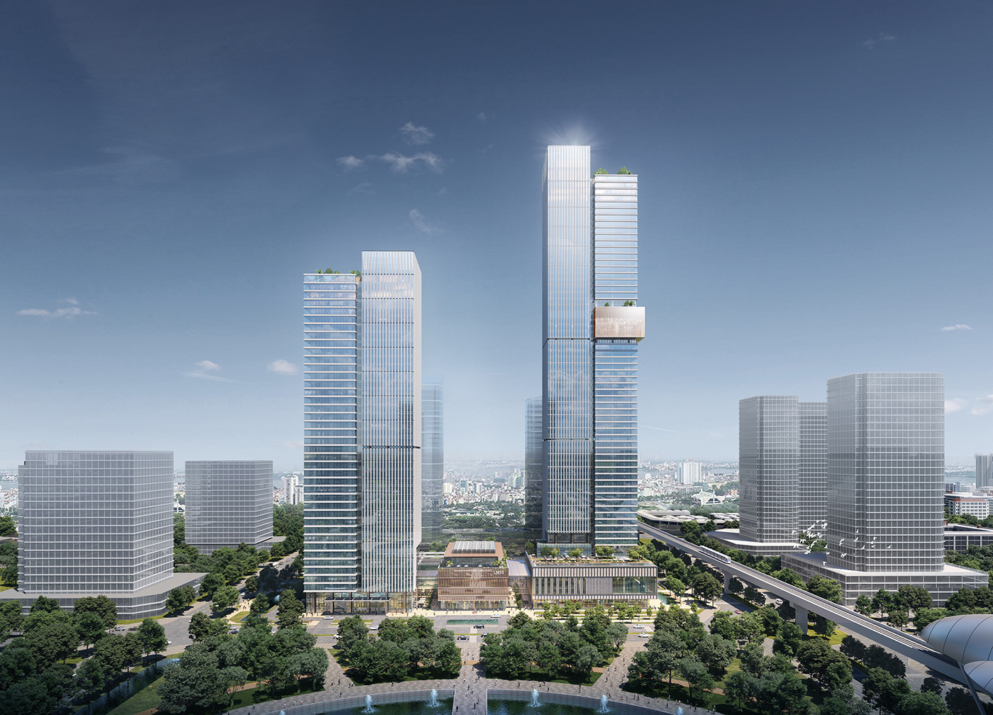Image may contain: sky, skyscraper and outdoor