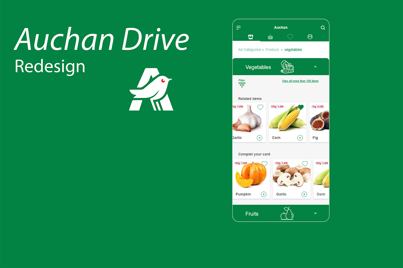 application mobile,design,drive,Grocery,UI,ux,Auchan
