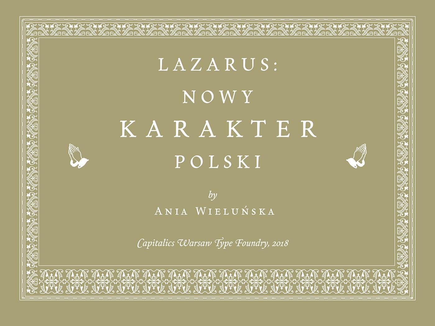 Lazarus (free) font on Behance