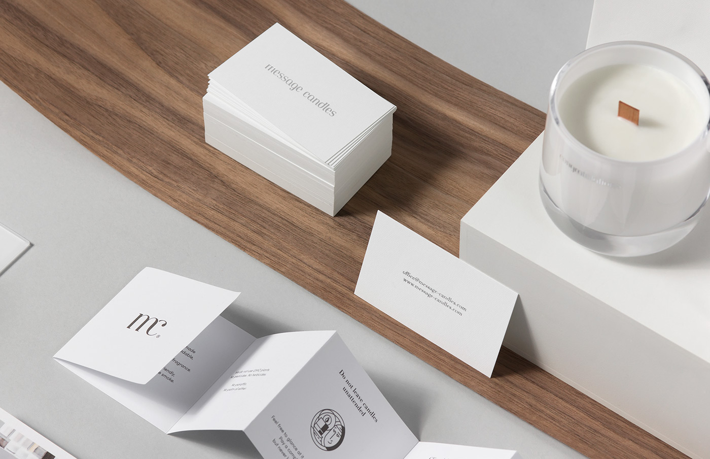 message candles on Behance