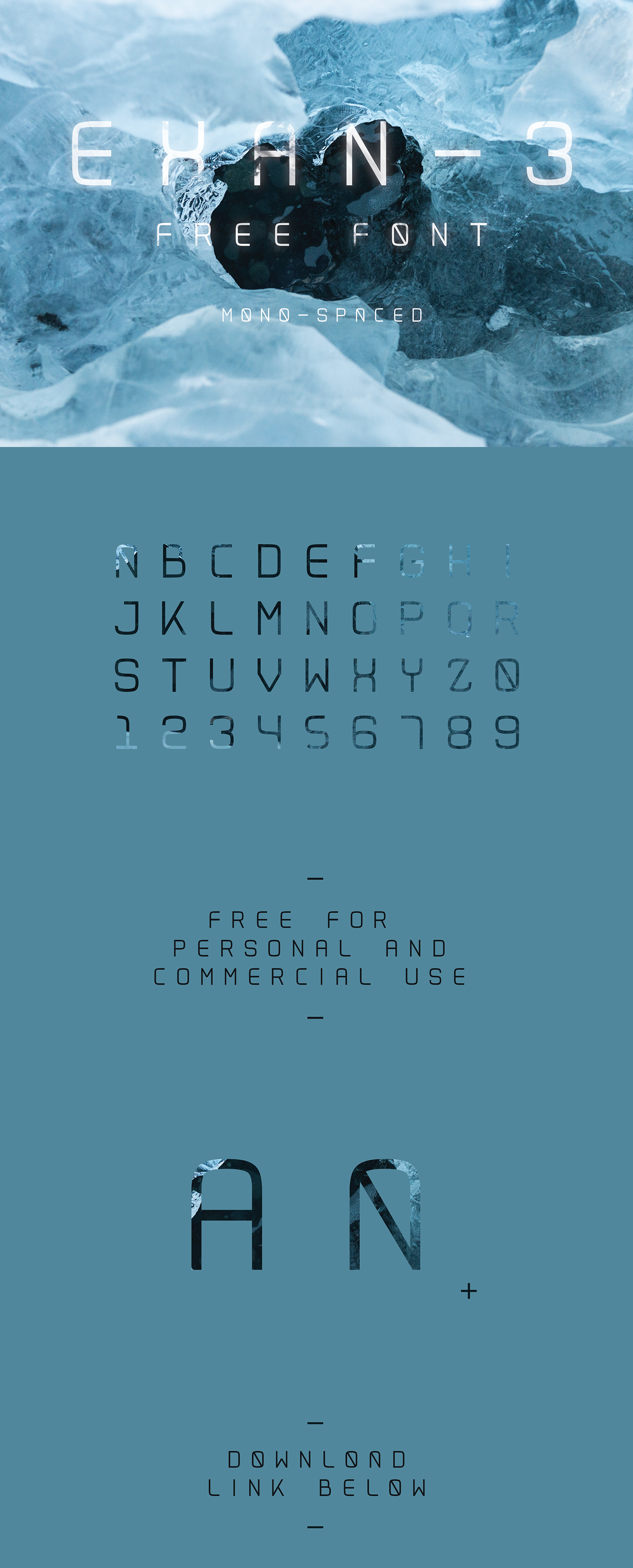 free font freefont free download download Typeface new featured type commercial use sans text exan display font Space
