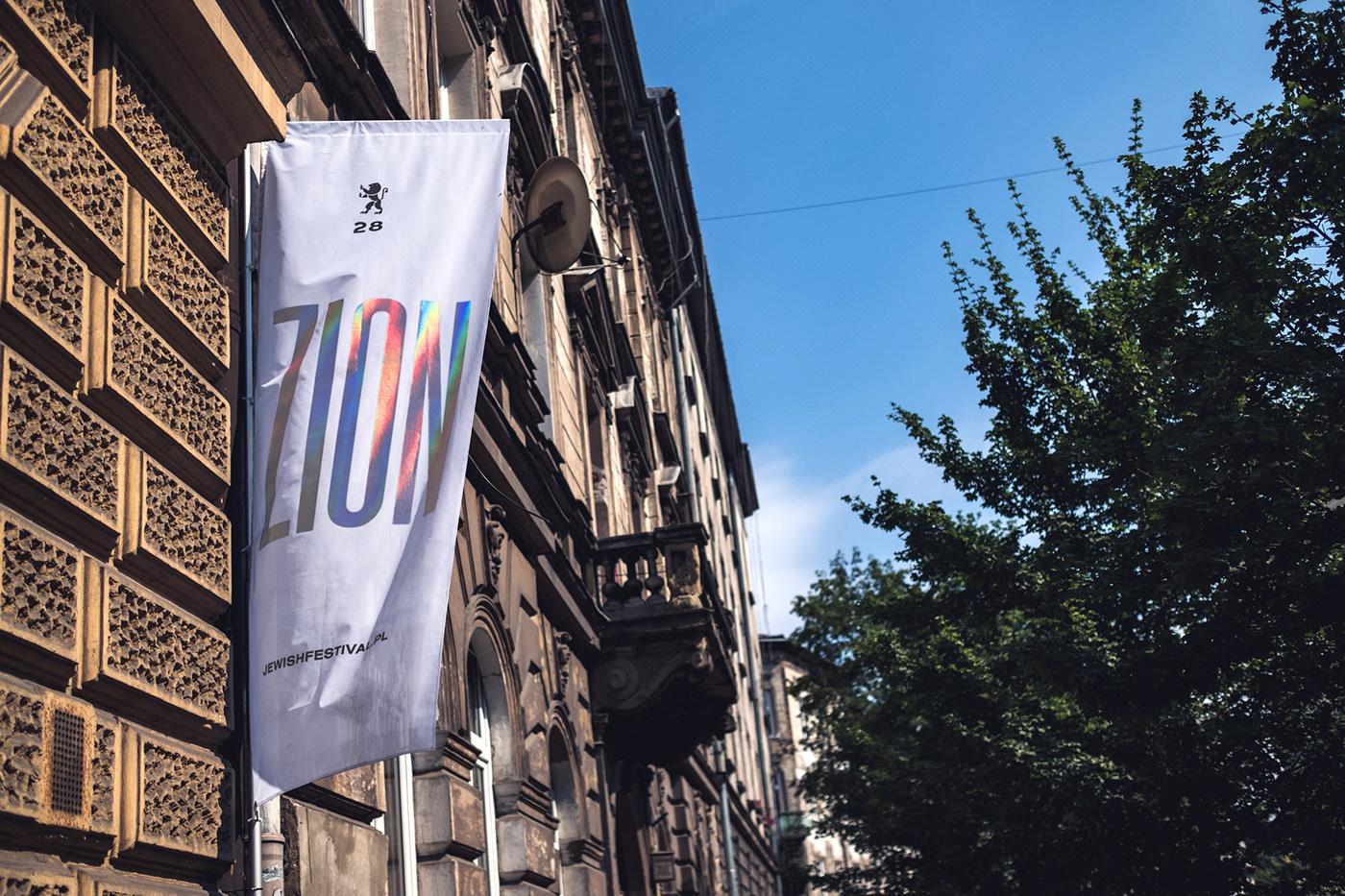Krakow's Jewish Culture Festival Branding by Studio Otwarte