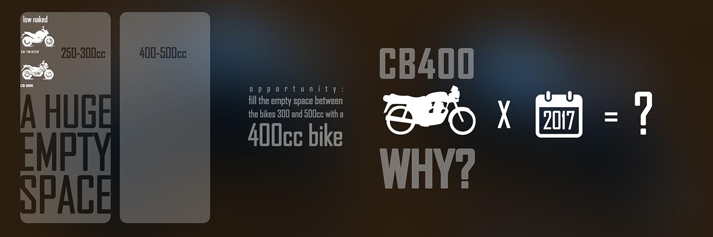 motorcycle Honda cb400 degree project photoshop Alias keyshot brand design industrial design
