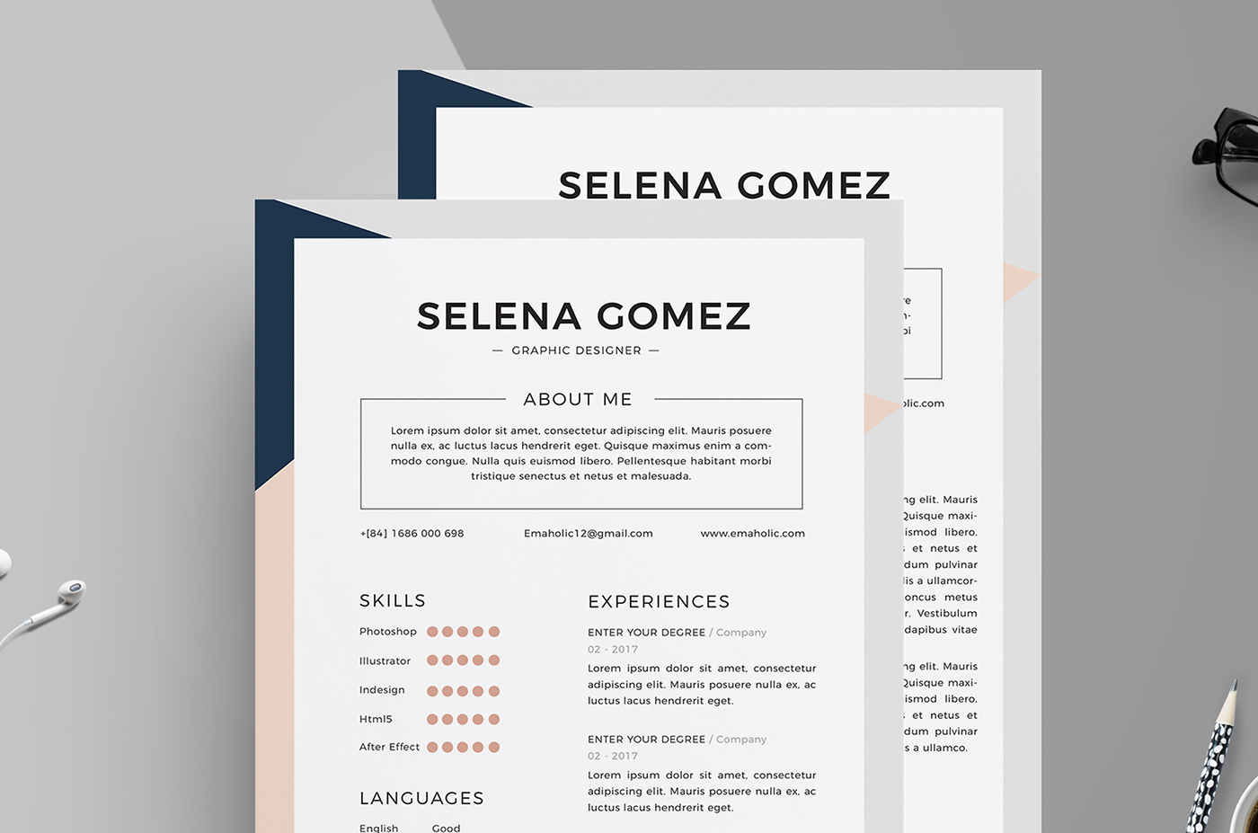 professional cv and cover letter template on behance