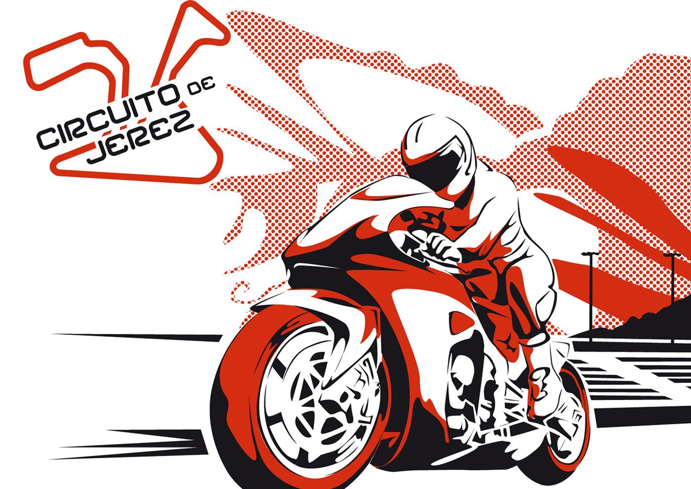 Illustration Grand Prix Moto GP Jerez Circuit on Behance