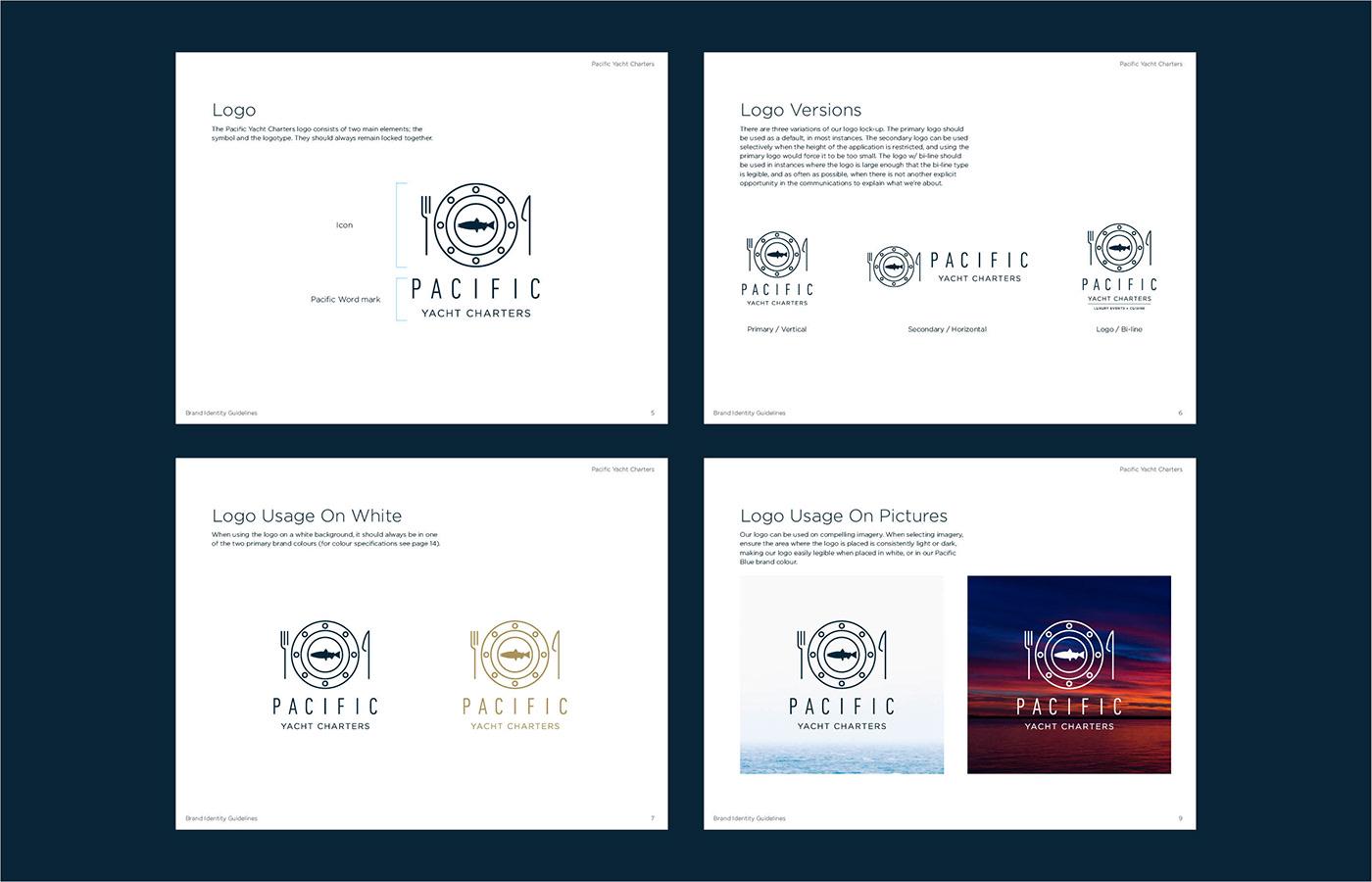 branding  logo vancouver yacht Charters corporate wedding pacific luxury