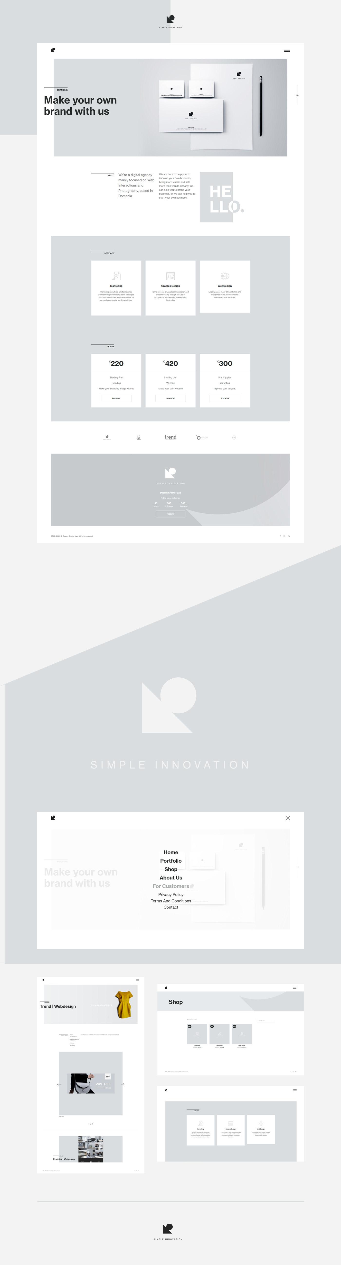 graphic design  icons minimalist monochrome ownproject Webdesign Webdevelopment