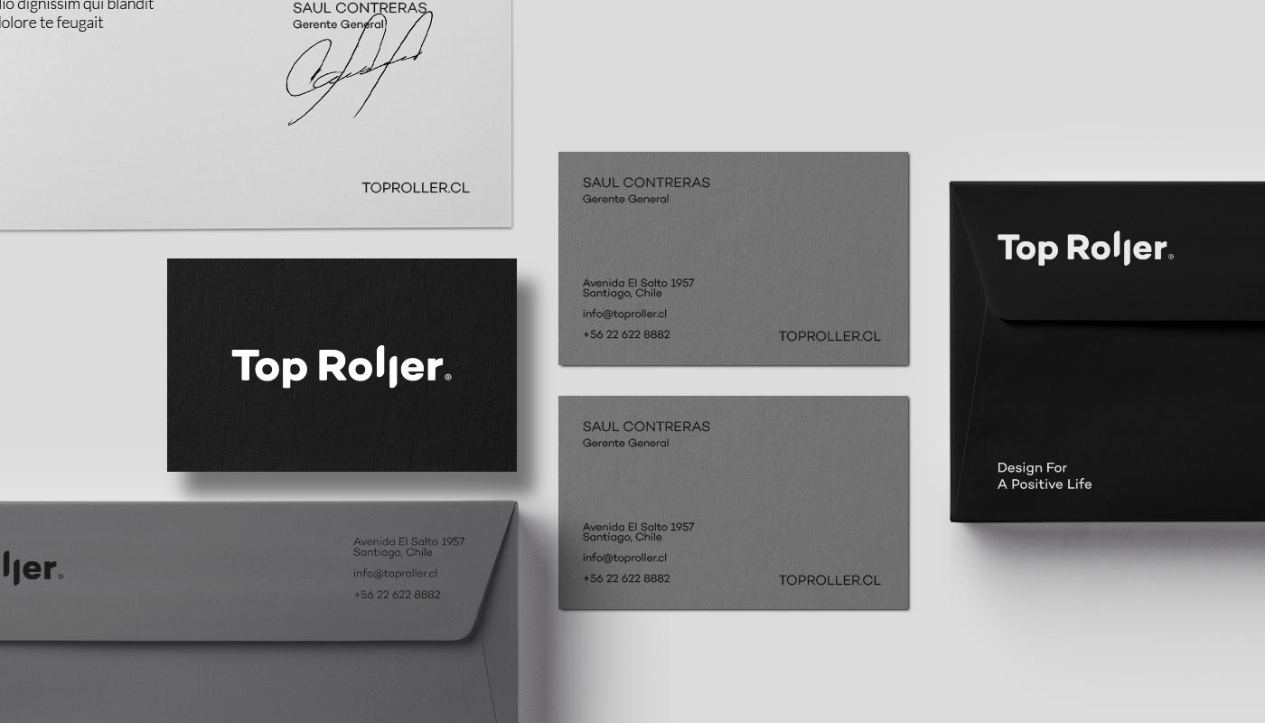 brand roller identity logo Stationery type Web Rebrand curtain business