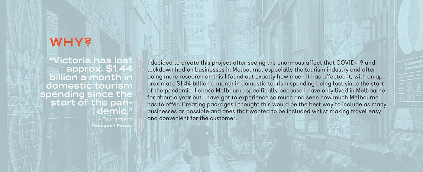 Capstone design Melbourne toursim campaign