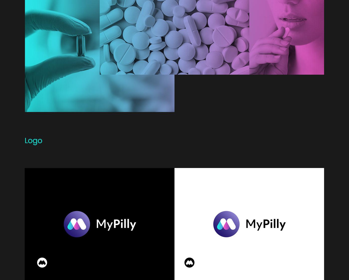 Pilly medicine logo branding  CI ID poland agency visiontrust app