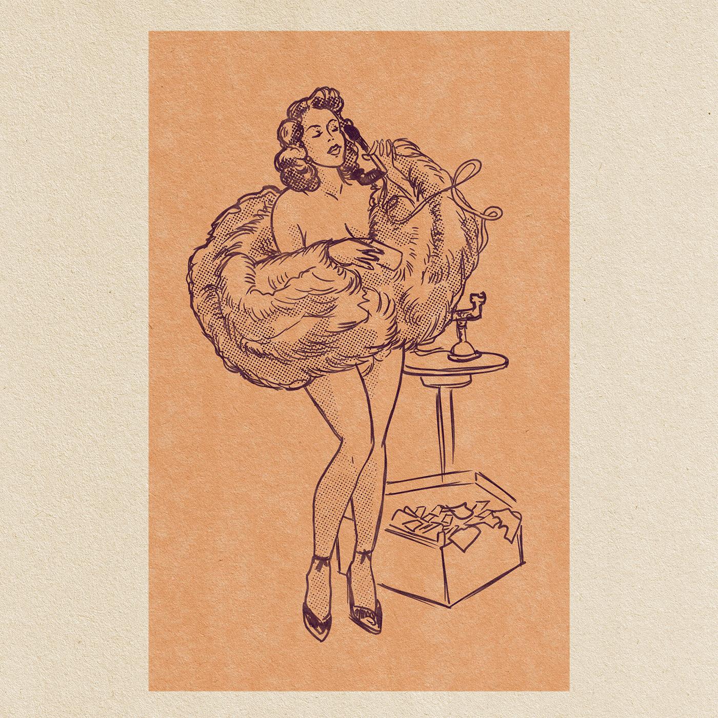 comic drawings midcenturyillustration retroillustrations vintagecomics vintagedrawings