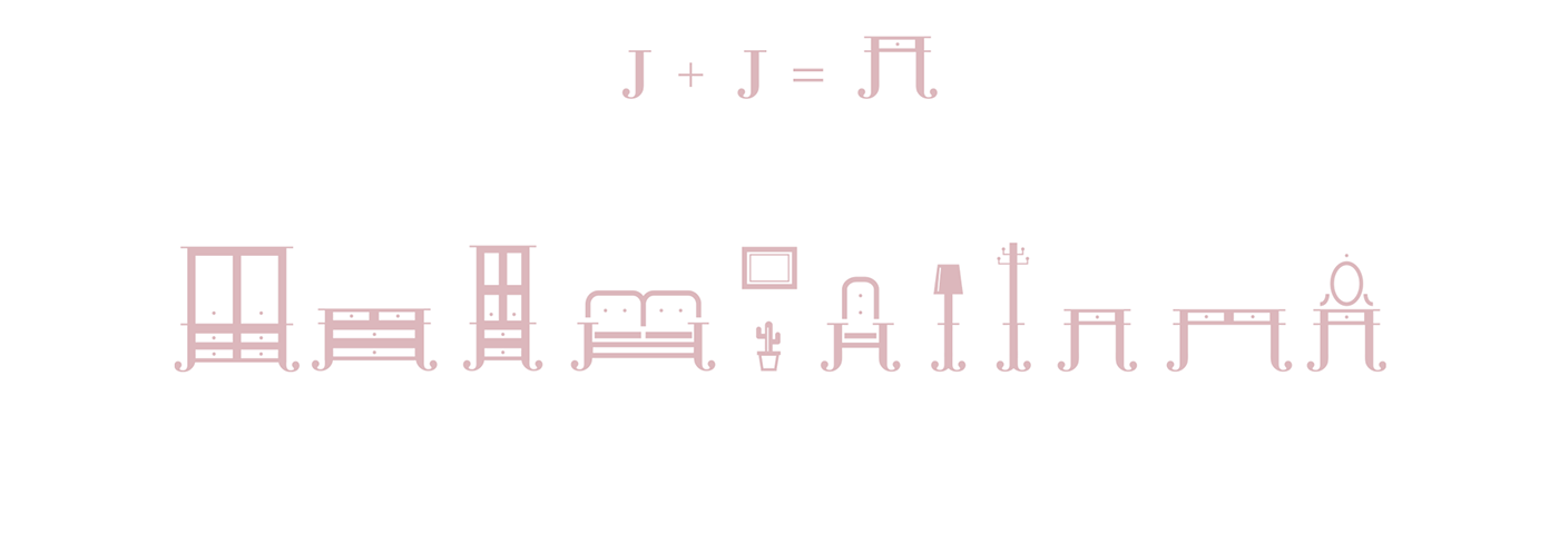 sello stamp furniture muebles pictogram pink wood