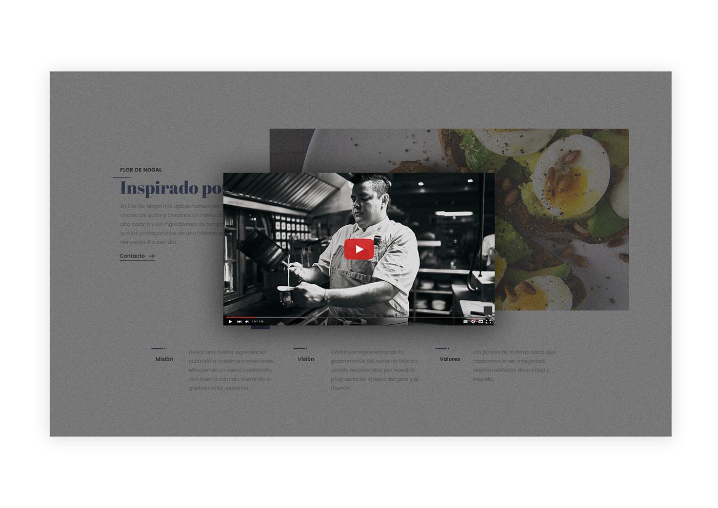Flor de Nogal Food  Hacienda Responsive restaurant Website