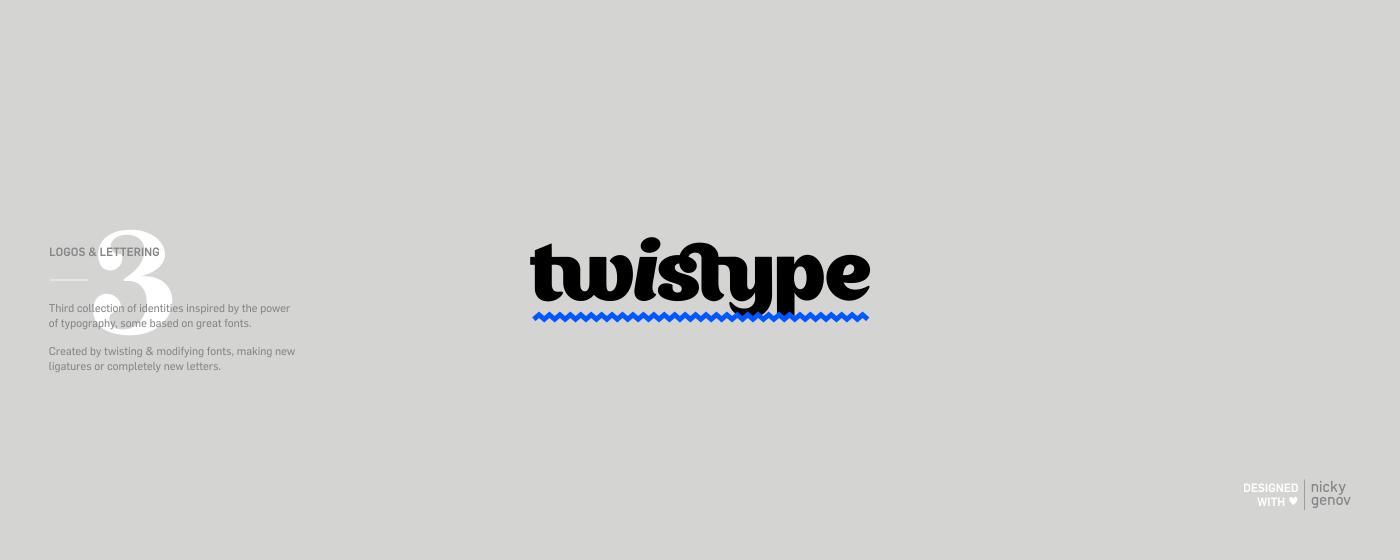 type typo lettering logo Logotype Twistype wordmark typographic Expressive Typography