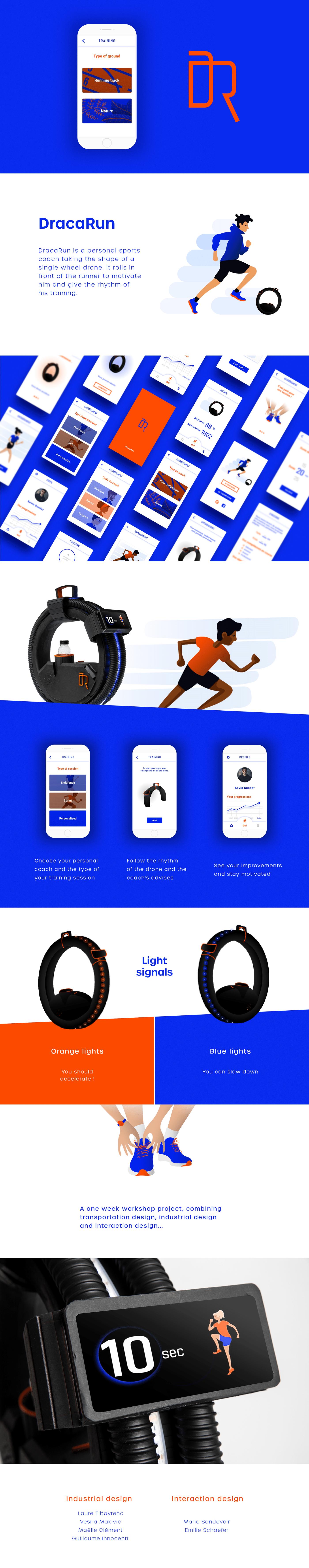 drone running run sport Coach training ui design UX design ILLUSTRATION