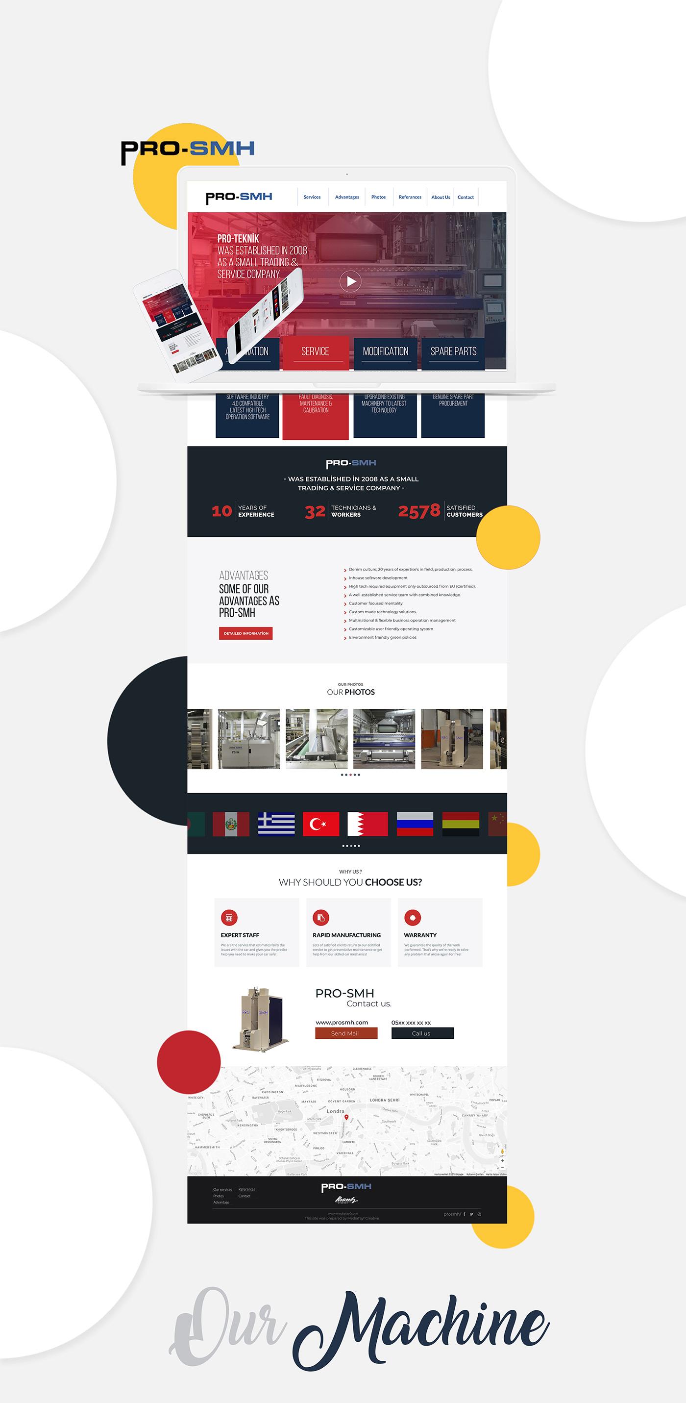 Website video design Mockup