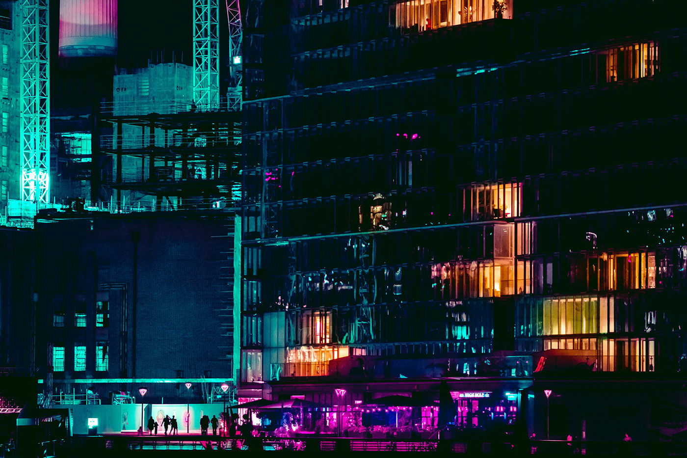 Cyberpunk future London neon neon london neon street photography Street
