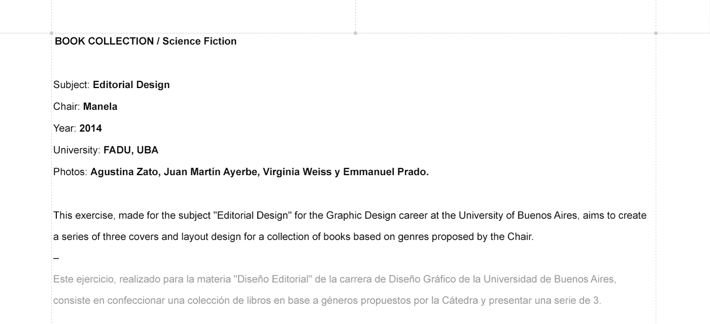 editorial design books Collection Layout science fiction cover sci-fi