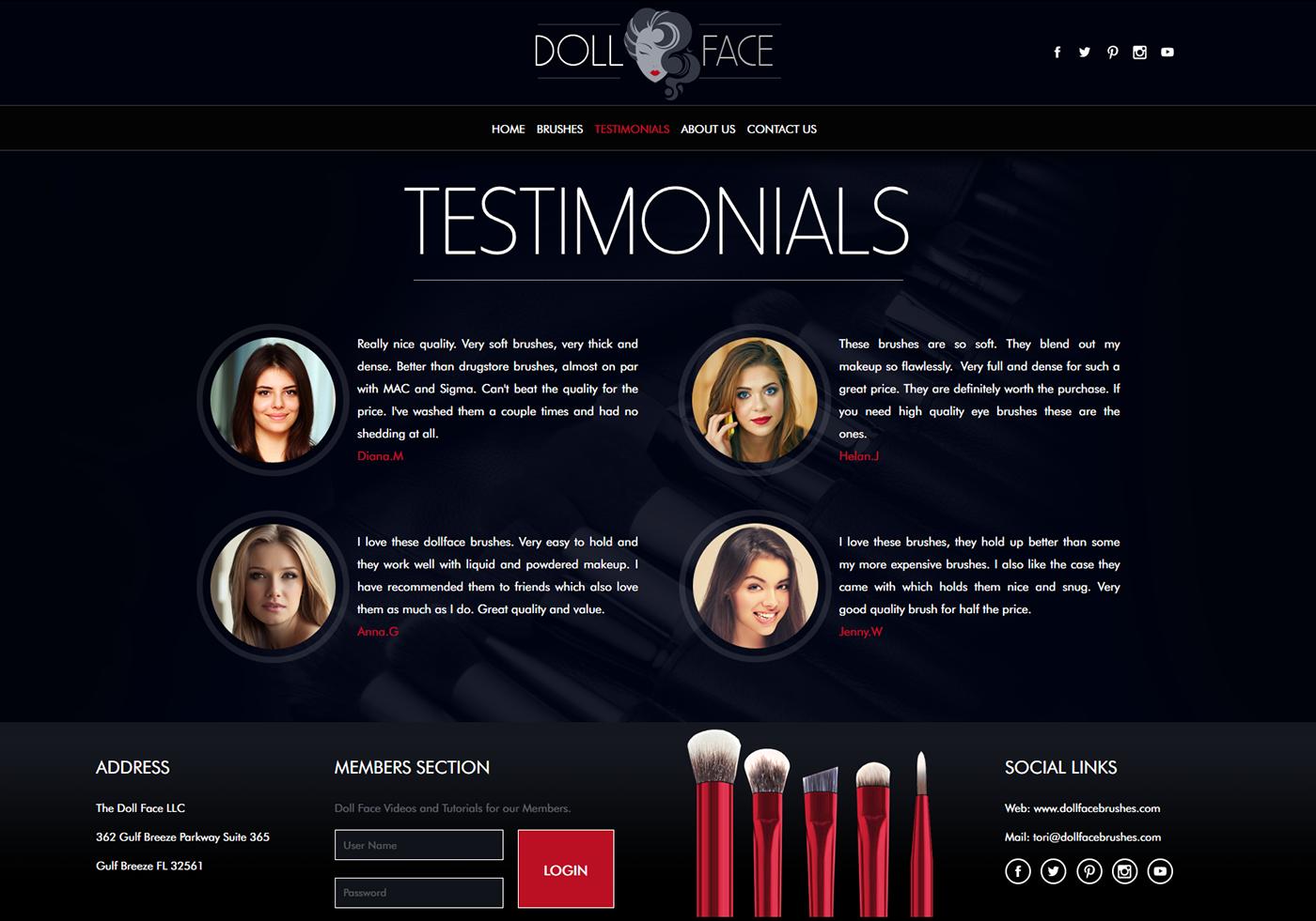 beauty salon Spa makeup Beauty salon website Wellness black red
