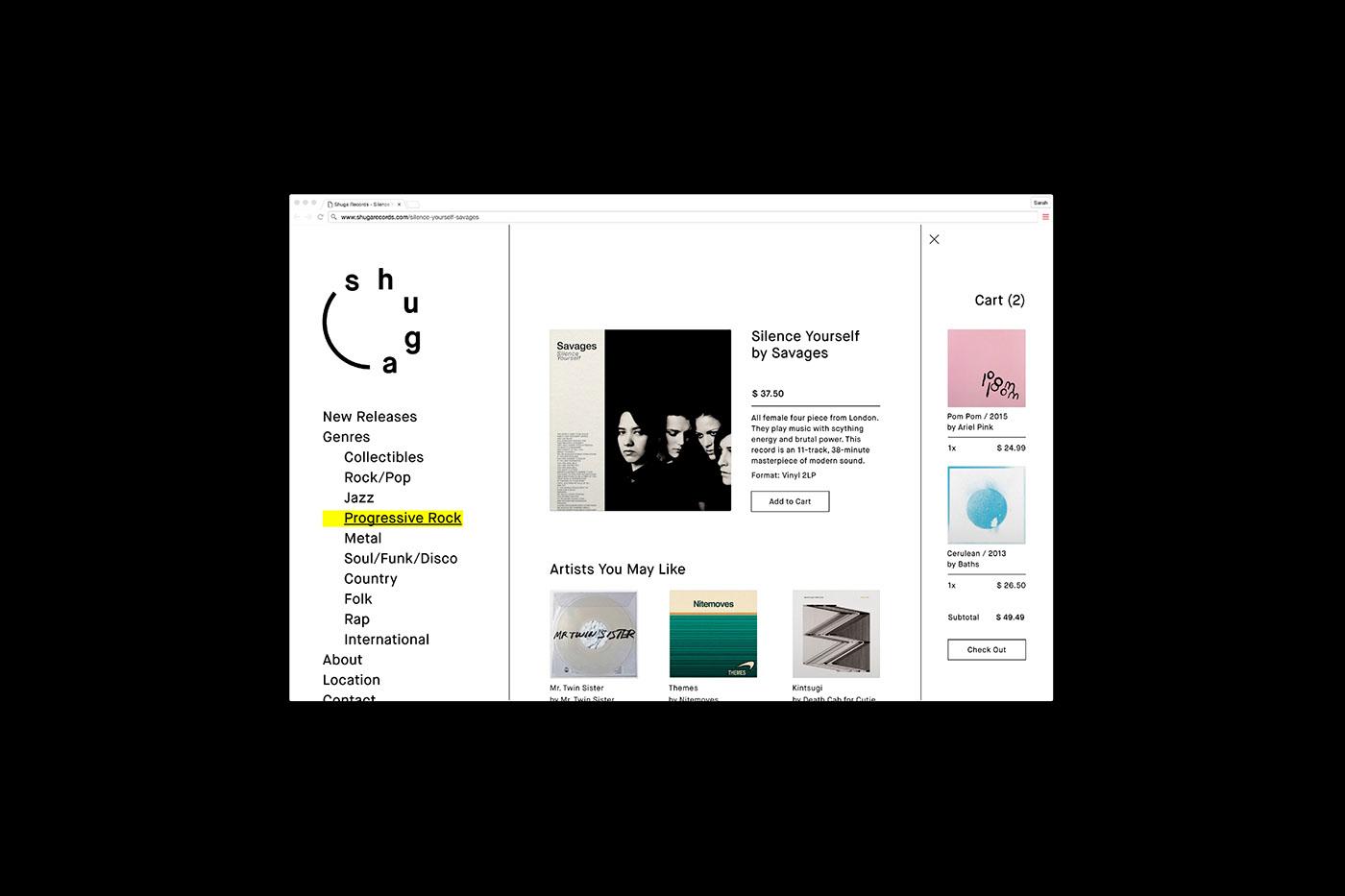 black and white design minimal black White record store vinyl