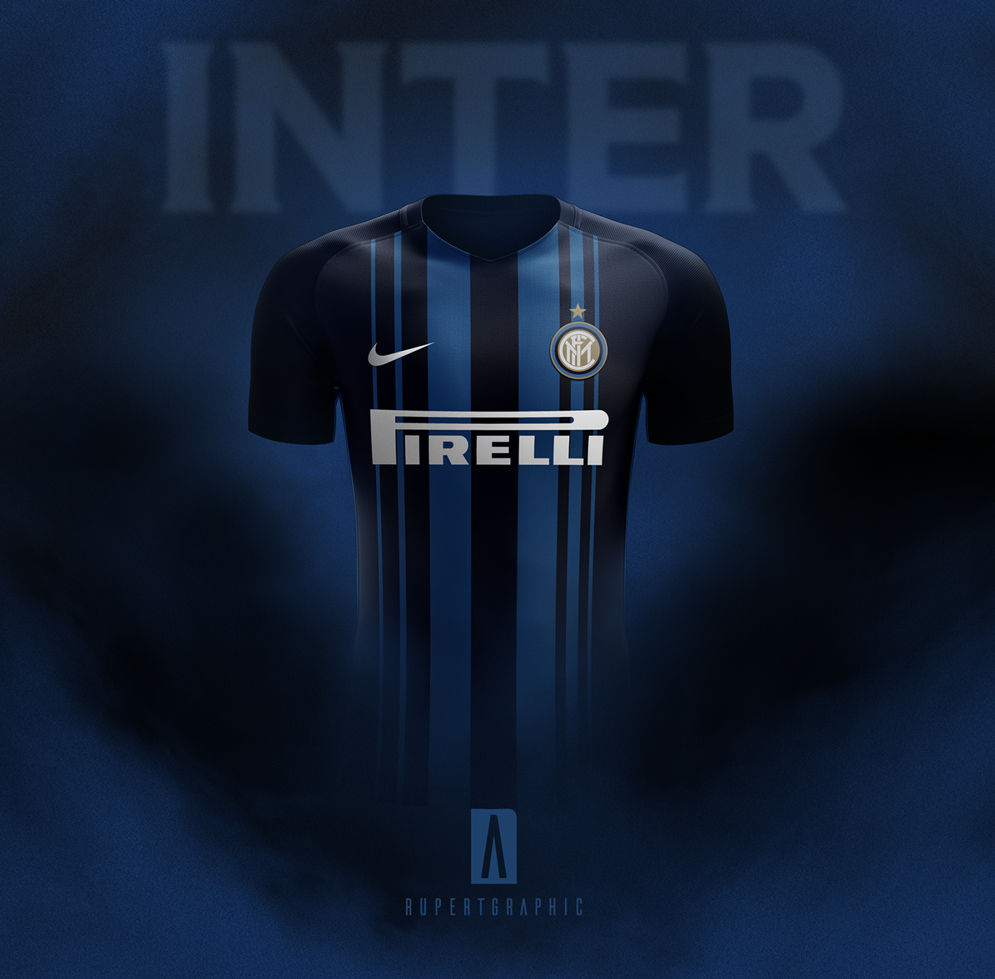 4a94b5ec4be Inter 18 19 Home kit - Rumors on Behance