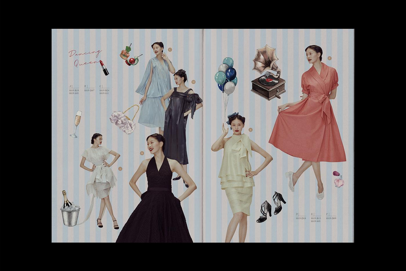 Fashion  Layout brochure Catalogue magazine vintage design