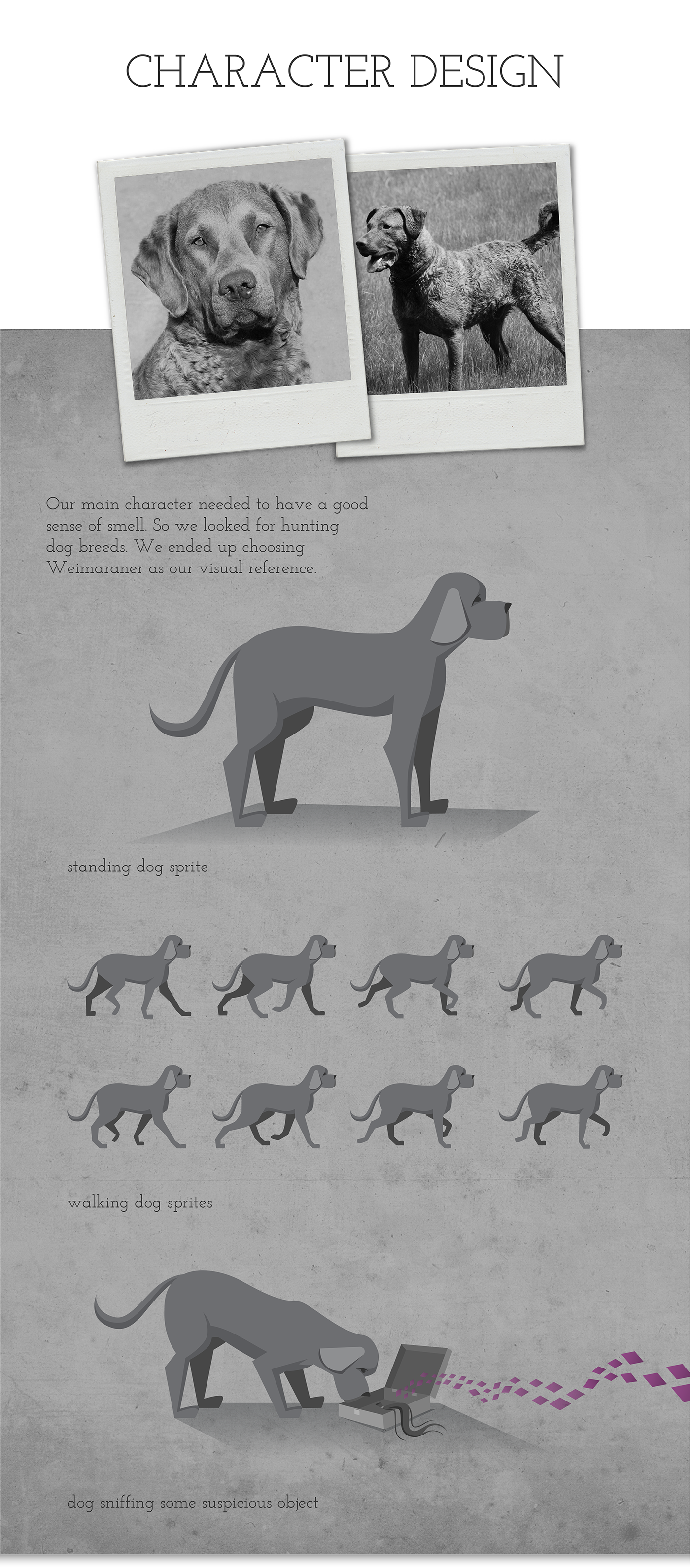 game design  game noir mystery narrative narrative game dog black and white 2d game adobeawards