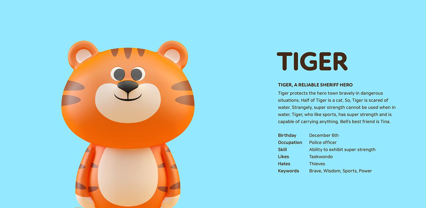 3D branding  Character characterdesign IP kid kidspark 캐릭터디자인 china xian