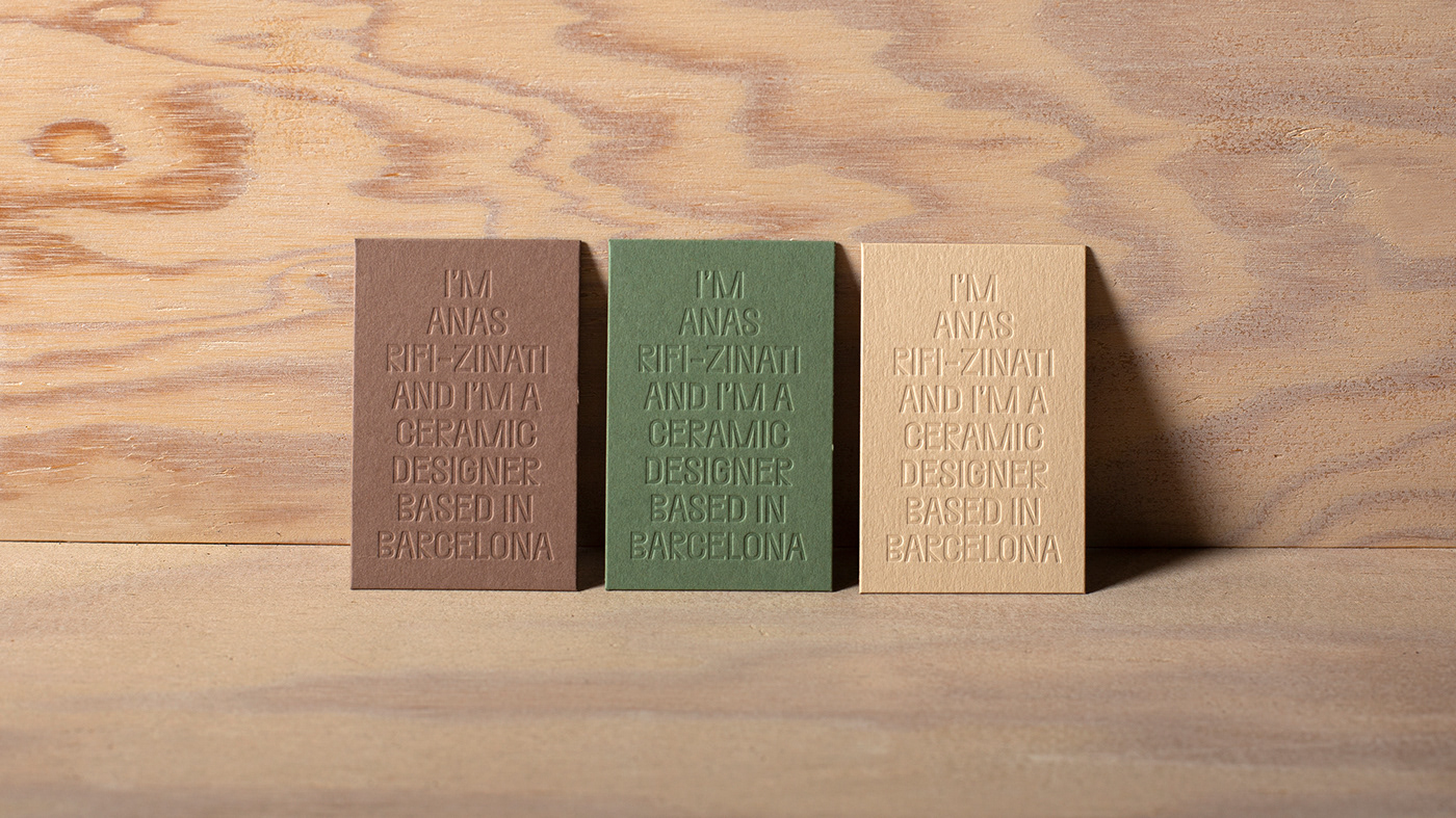 ceramic Business Cards branding  Website Web Web Design