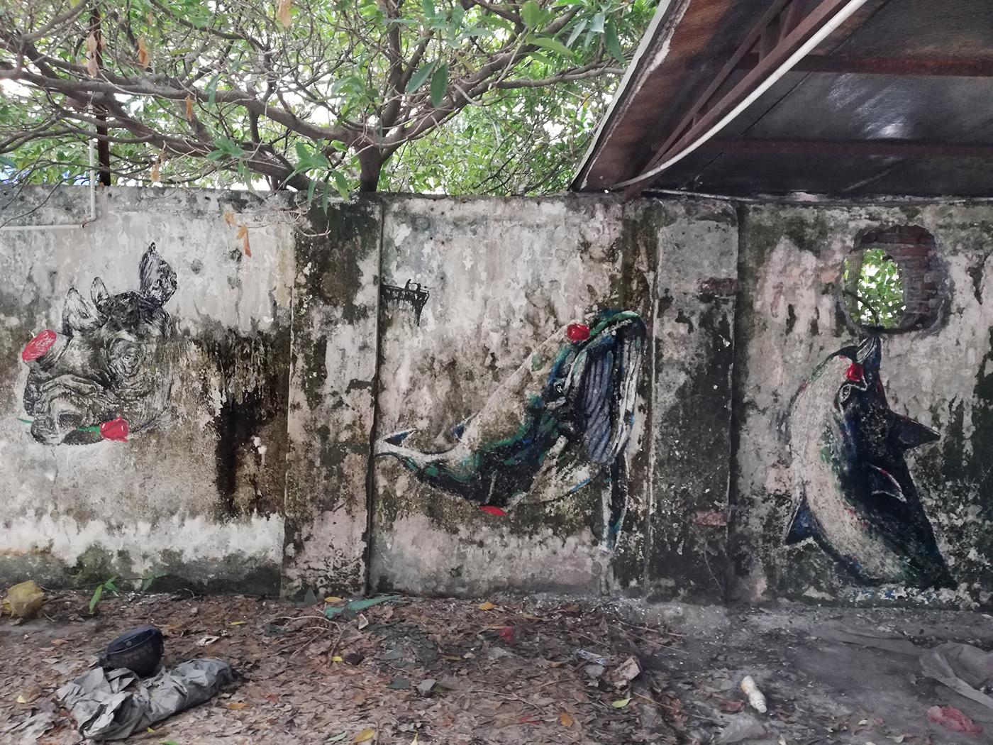 Image may contain: outdoor, abandoned and graffiti