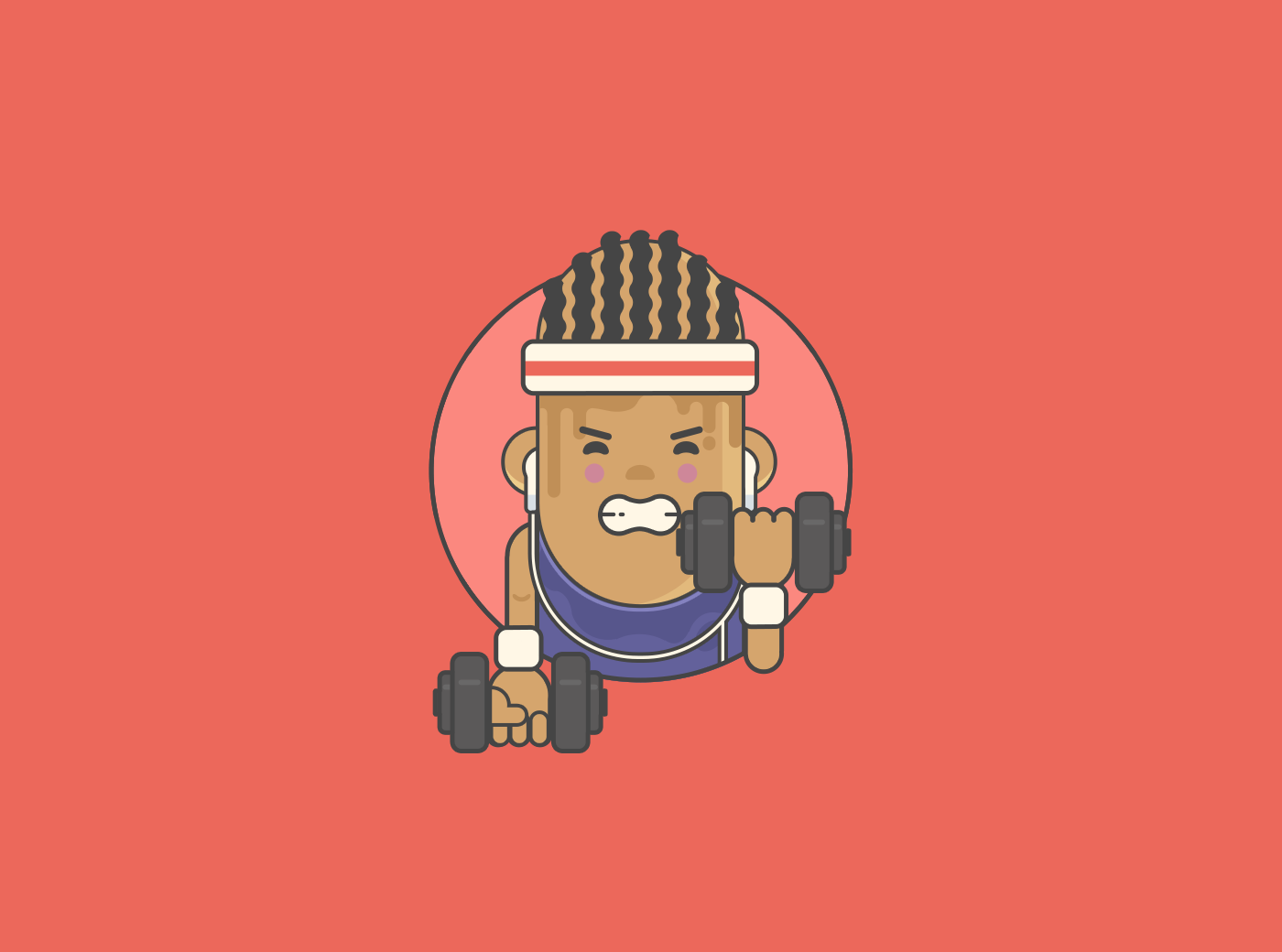 flat design outlines print icons avatar characters Sandiego seattle geek photoshop flatdesign vector